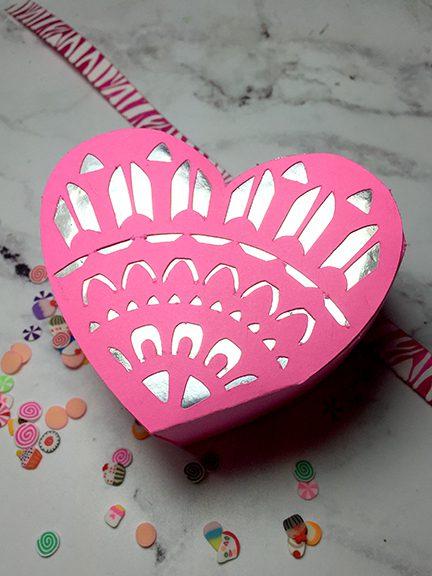 finished heart box