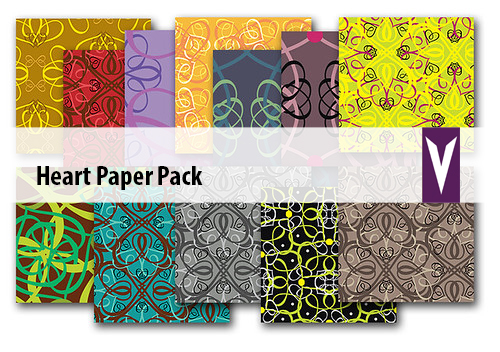 hearts paper pack