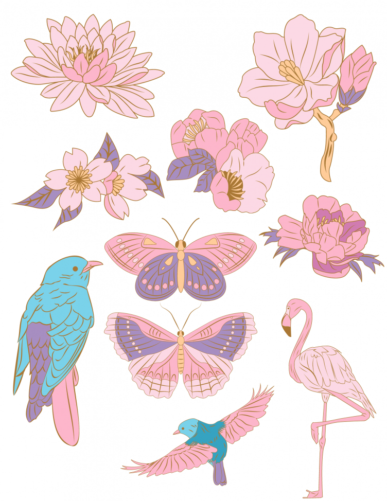 pink elements